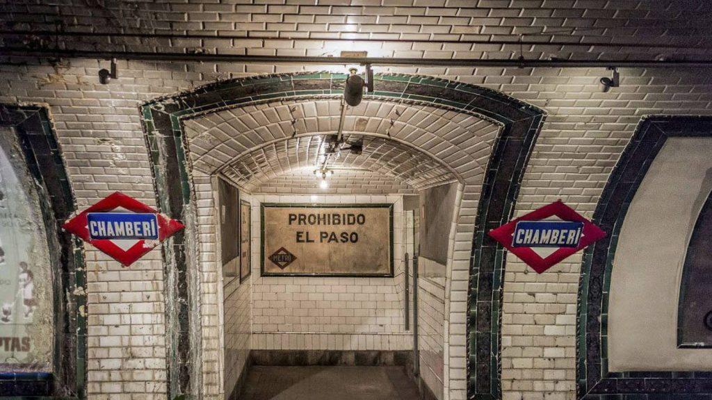 Estación fantasma de Chamberí en Madrid