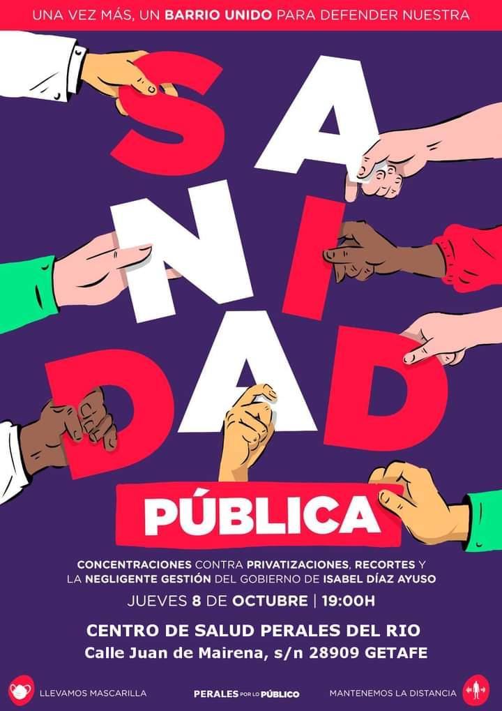 Convocatoria de protesta en Perales del Río este jueves